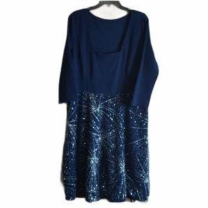 Lookbook Store Plus Size XXL Blue Dress NWT
